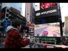 ▶ Hyundai Veloster Racing Game In Times Square - YouTube