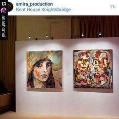 Anas Homsi and Sihair Subai paintings at Le Salon de Lahd