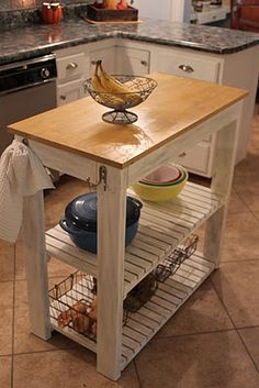 Really easy to make kitchen island... pattern revised by me from an original from Knock off woods!