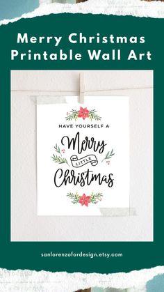 Printable Christmas Decorations, Merry Christmas Printable, Merry Little Christmas, Free Christmas Printables, Christmas Wall Art, Christmas Quotes, Happy Holidays, Christmas Holidays, Christmas Gifts
