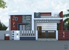 House Balcony Design, House Main Gates Design, Single Floor House Design, Modern Small House Design, House Outside Design, Small House Exteriors, Modern Exterior House Designs, Modern Bungalow House, Village House Design