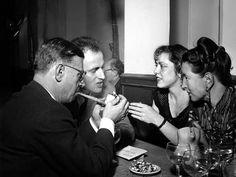 Sparking debate: Boris and Michelle Vian, Jean-Paul Sartre and Simone de Beauvoir in Saint-Germain des Pres, Paris in 1949 (Rex)