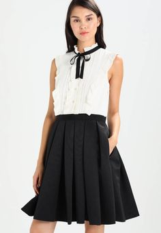 """Ted Baker. KIMIKA - Cocktail dress / Party dress - black. Outer fabric material:100% polyester. Care instructions:Dry clean only. Sleeve length:Extra short. Back width:14.0 """" (Size 10). Bottom part material:100% polyester. Fit:tailored. Our model's height..."""