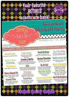 Bring Back my Bar 2014 #scentsy #bbmb2014 Https://MHimes.Scentsy.us