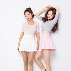 Sweet fashion student A-line pleated skirt