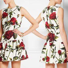 A- Line Dress, Elegant, Sleeveless, Summer Casual, Rose Print, Polyester $179  ᴏʀᴅᴇʀ ɴᴏᴡ: ᴊᴜsᴛᴇʙᴏᴜᴛɪǫᴜᴇ@ɢᴍᴀɪʟ.ᴄᴏᴍ  #boutique #picoftheday #fashion #dress #istafashion #clothing #want #weheartit #online #newyork #bestofthebest #topquality #follow #heels #goodisgood #iwantone #forsale #unique #greatbuy #style #look #loveit #beauty #new #product #forsale #womensfashion #happybuyers #buyme #allmymoneygoestofashion