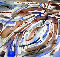 GRISAZUR: Acuarela sobre papel, 16,5x17,5 cm.Abr. 8, 2015