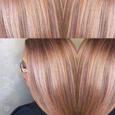 The definition of ROSE GOLD  #hairbylena @originalmineralusa @originalmineral @dnalaburbana #RoseGoldHair #Maryland #Hair #OrganicColor