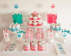 Inspiration board ideas for a fun Spa Party. I am currently working on a Spa Party collection. Kinder Spa Party, Buffet Dessert, Party Buffet, Dessert Ideas, Sweet Party, Girl Spa Party, Beach Party, Bar A Bonbon, Kids Spa