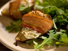 Roasted Baby Pears with Herbed Goat Cheese from FoodNetwork.com