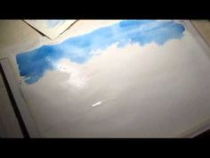 ▶ Watercolor Sky with White Clouds - YouTube