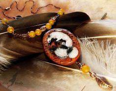 Three-tailed fox - stone painting by AlviaAlcedo on DeviantArt