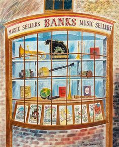 """""""Banks Music Sellers"""" by Emily Sutton (watercolour)"""