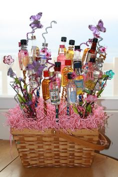 """21st birthday idea- """"Garden of shooters"""".. get 21 different mini shooters"""