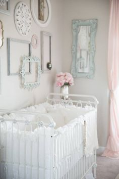 Baby cribs are what we do. Bratt Decor offers an exclusive line of the most luxurious and elegant designer baby cribs in wood and iron. Our vintage styling is unique, beautiful and safe. Baby Bedroom, Baby Room Decor, Nursery Room, Girl Nursery, Girl Room, Baby Rooms, Vintage Nursery Girl, Chic Nursery, Nursery Bedding
