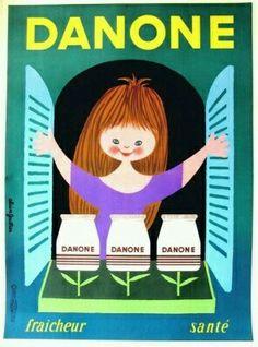 Danone Yogurt, 1960s by Alain Gauthier.