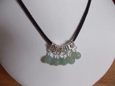 Green aventurine charm necklace £7.50
