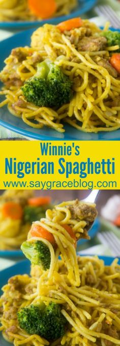 How to cook african food nigeria pinterest nigerian food nigerian recipe winnies nigerian spaghetti is full of curry ginger and garlic flavor forumfinder Image collections