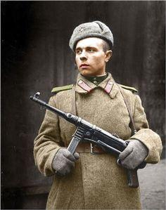 Soviet soldier in Berlin 1945