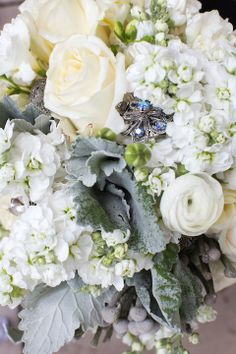 GRO Floral and Event Design   Modern Elegance: Patricia & Ray   Joule Hotel   Beautiful White Floral