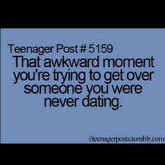 The worst feeling ever, knowing nothing even happened.