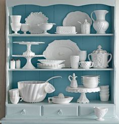 Older milk glass was made with iridized salts and, therefore, should produce a halo of iridescent reds, blues, and greens in the sun.