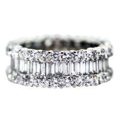 5 Carat Diamond Eternity Ring Wedding White Gold  Band