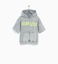 'FEARLESS' FADED SWEATSHIRT