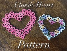 This listing is for a tatted heart pattern, available as an instant digital download. You will need Adobe Acrobat or other PDF reading software to access the file. The pattern is 6 pages long and includes both a diagram and full written instructions. Basic tatting techniques are