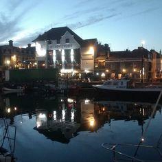 Weymouth. Night reflections. #night #light #reflection