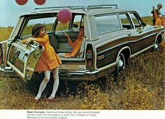 1968 Ford Country Squire Station Wagon    by coconv, via Flickr  We had a similar model wagon, but what I like so much about this photo is that it captures the kids' perspective of riding in the jump seats in the back!