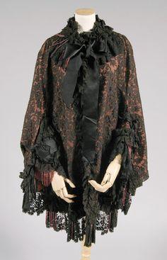 Cape | American | 1880 | lace, silk, beading | Philadelphia Museum of Art | Accession #: 1950-28-12