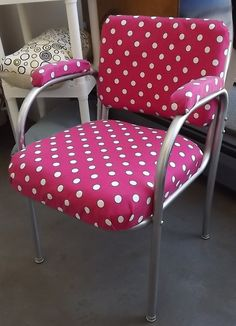 FREE SHIPPING Hot Pink and White Polka dot by UniquelyAttainable, $120.00