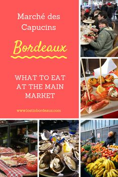 The best places to eat at the main market in Bordeaux, marché des Capucins. This is one of the oldest and most exciting markets in France with plenty of restaurants serving all the best food this region has to offer. Bordeaux Vineyards, Northern California Travel, France Rugby, Weather In France, Holidays France, Christmas In Paris, Bordeaux France, Visit France, Dordogne