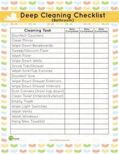 how to clean a bathroom checklist   bathroom deep cleaning list download the bathroom deep cleaning list ...