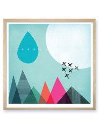 Sky Mountains Limited Edition Art Print Mara Girling Printspace frame