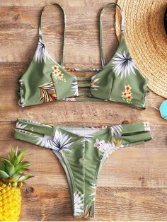 Up to 80% OFF! Floral Ladder Cut Out Thong Bikini. #Zaful #Swimwear #Bikinis zaful,zaful outfits,zaful dresses,spring outfits,summer dresses,Valentine's Day,valentines day ideas,cute,casual,fashion,style,bathing suit,swimsuits,one pieces,swimwear,bikini set,bikini,one piece swimwear,beach outfit,swimwear cover ups,high waisted swimsuit,tankini,high cut one piece swimsuit,high waisted swimsuit,swimwear modest,swimsuit modest,cover ups @zafulbikini Extra 10% OFF Code:zafulbikini