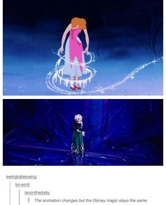 The animation changes, but the Disney magic stays the same.