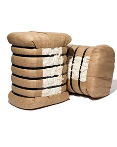 So very Southern. Cotton foot stools, need it.