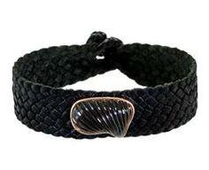 Smoky Quartz Barbatia Bracelet on Leather
