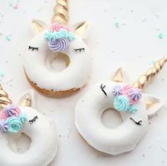 Delicious unicorn donuts
