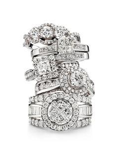 Modern Bride engagement rings