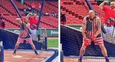 Gomes' Patriotic Batting Practice Gear