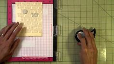how to use a transparency sheet to position repeat stamping