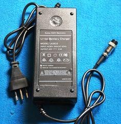 caricabatterie 36 v 2 A lion  con stacco automatico  e luci di stato