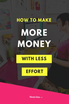 Do you want to make MORE money with LESS effort? Then click through to this blog post right here! 👆🏻  I'm gonna walk you through the three ways I've been able to make MORE money without having to put in a bunch of extra hours and energy into my business so that YOU can do the same! 💖  These are simple and proven things that you can implement TODAY to give a big 'ol boost to your revenue 😁 #passiveincome #onlinebusiness #growyourbusiness #entrepreneurtips