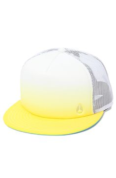 6d6c12388f727f Nixon Hat Snapshot II Trucker in Yellow Fade - Karmaloop.com Wearing A Hat