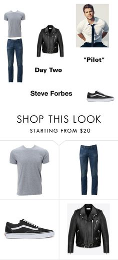 """""""Steve Forbes Worlds Colliding (The Vampire Diaires) 1.01 """"Pilot"""" by jdefloria on Polyvore featuring Urban Pipeline, Vans, Yves Saint Laurent, men's fashion and menswear"""