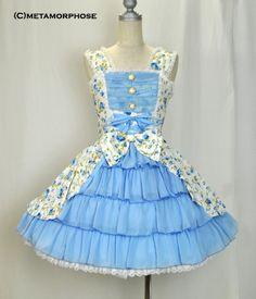 metamorphose temps de fille 花柄シフォンフリルジャンパースカート Doll Outfits, Doll Clothes, Cinderella, Victorian, Disney Princess, Character, Dresses, Fashion, Daughter