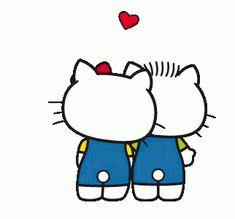 Hello Kitty Lean GIF - HelloKitty Lean Love - Discover & Share GIFs